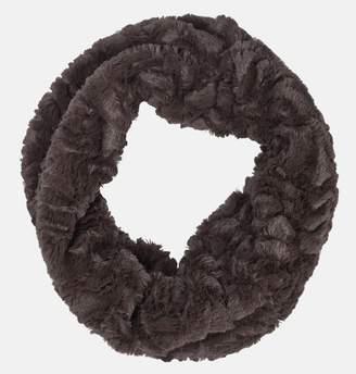 Avenue Brown Faux Fur Infinity Scarf