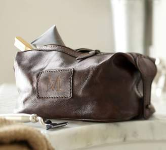 Pottery Barn Saddle Leather Toiletry Case
