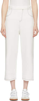 MM6 MAISON MARGIELA Off-White French Terry Lounge Pants