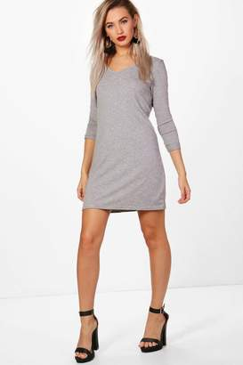 boohoo V Neck T-Shirt Shift Dress