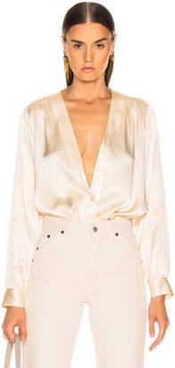 Nili Lotan Elsie Shirt in Champagne | FWRD