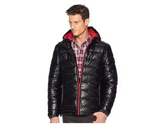 Cole Haan Faux Leather Faux Down Jacket Men's Coat