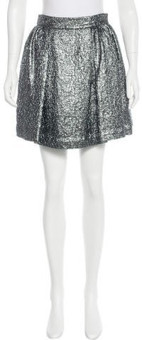 Kate Spade New York Textured Metallic Skirt