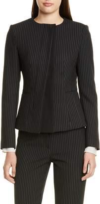 BOSS Jadela Pinstripe Ponte Suit Jacket
