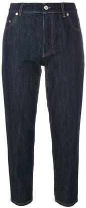 Miu Miu patch detail cropped jeans