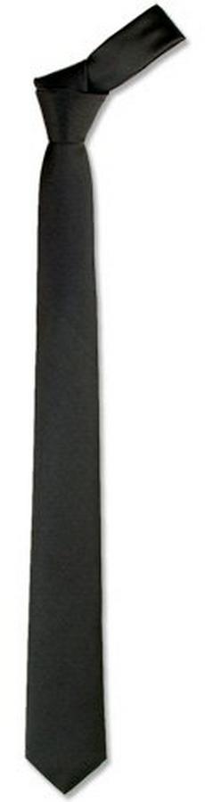 Forzieri Solid Black Twill Silk Narrow Tie