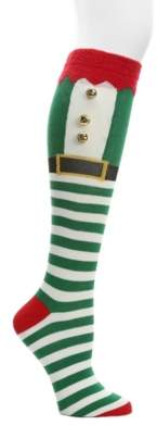 Mix No. 6 Elf Jingle Bell Women's Knee Socks