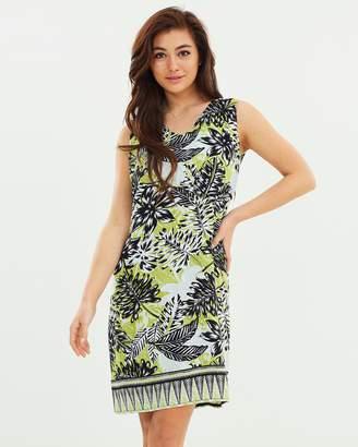 Wallis Border Palm Zip Back Pinny Dress
