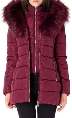 Point Zero Quilted Faux Fur-Trimmed Jacket