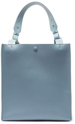 Sophie Hulme Cube Leather And Suede Tote Bag - Womens - Blue