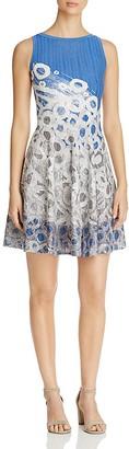 NIC and ZOE Raindrop Print Twirl Dress $228 thestylecure.com