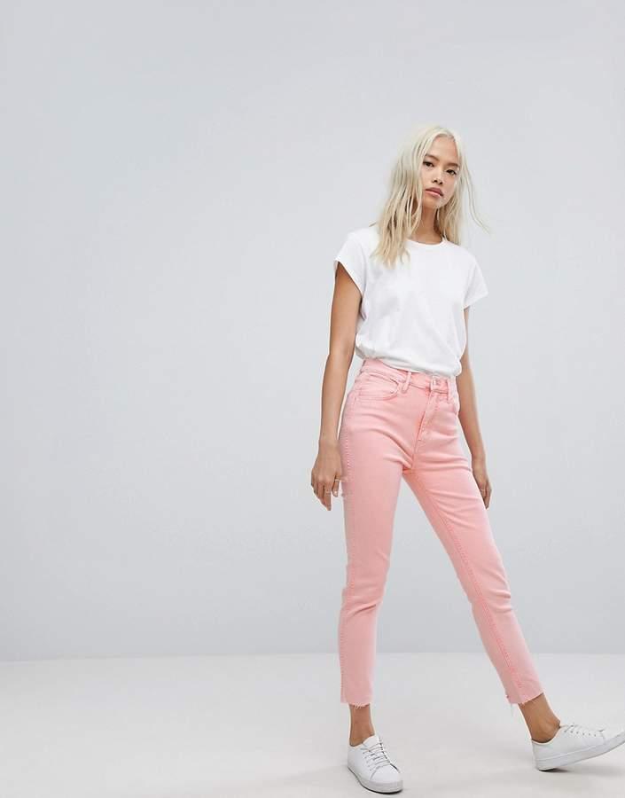 Levis Line 8 Levi's – Line 8 – Verkürzte, enge Jeans mit hohem Bund und ungesäumten Kanten