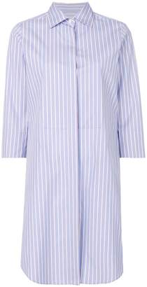 Alberto Biani striped shirt dress