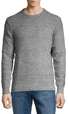 Black & Brown Black Brown Horizon Cable-Knit Crewneck Sweater