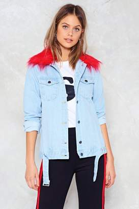 Nasty Gal A Thing of the Contrast Denim Jacket