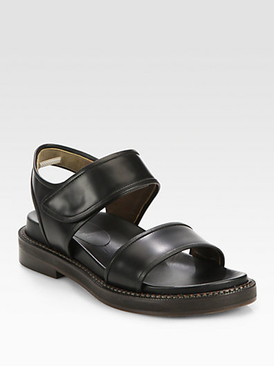 Marni Double-Banded Leather Sandals