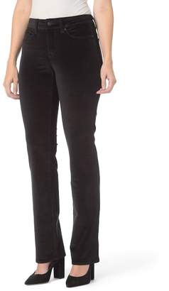 NYDJ Marilyn Velvet Straight Jeans (Regular & Petite)