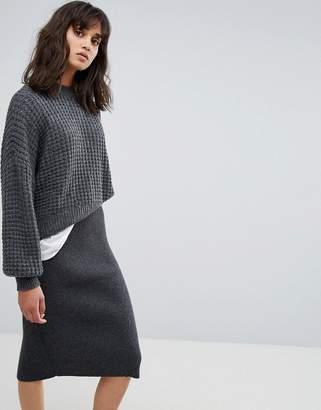 Weekday Waffle Knit Sweater