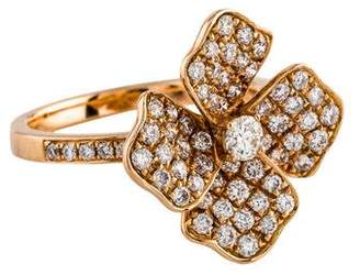 Anita Ko 18K Diamond Flower Pinky Ring