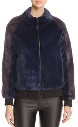 Maximilian Furs Mink Fur Bomber Jacket - 100% Exclusive