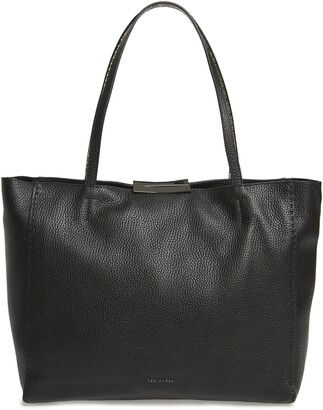 Ted Baker Jordun Exotic Leather Shopper & Snake Embossed Leather Pouch
