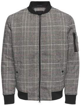 ONLY & SONS Checked Zip Bomber Jacket