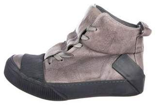 Boris Bidjan Saberi Bamba Distressed Leather Sneakers