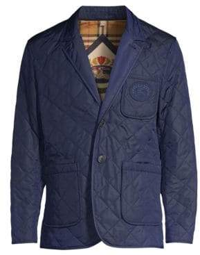 Burberry Men's Clifton Quilted Jacket - Bright Navy - Size 44