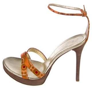Casadei Printed Platform Sandals