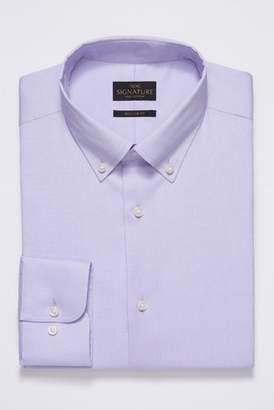 Next Mens Navy Regular Fit Single Cuff Signature Egyptian Cotton Stretch Button Down Shirt