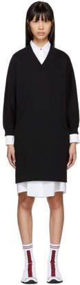 Kenzo Black Logo Sport Sweatshirt Dress