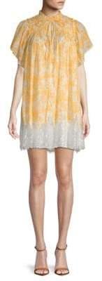 Free People Marigold Lace-Hem Cotton Shift Dress