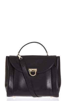 Salvatore Ferragamo Sofia Rainbow Black Leather Bag