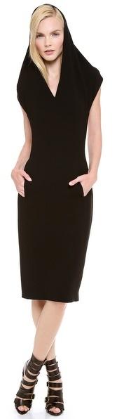 Jean Paul Gaultier Sleeveless Hooded Sweater Dress