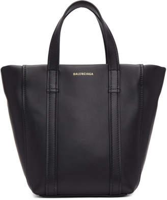 Balenciaga Black Extra Small Laundry Cabas Tote