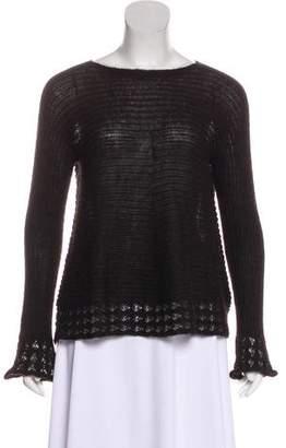 Issey Miyake Alpaca Long Sleeve Sweater