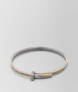 Bottega Veneta ANTIQUE SILVER/YELLOW GOLD PATINA BRACELET