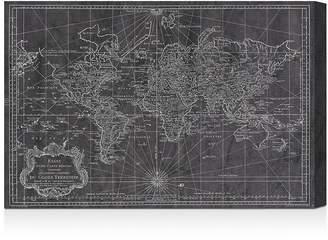 Oliver Gal World Map 1778 Wall Art, 24 x 16