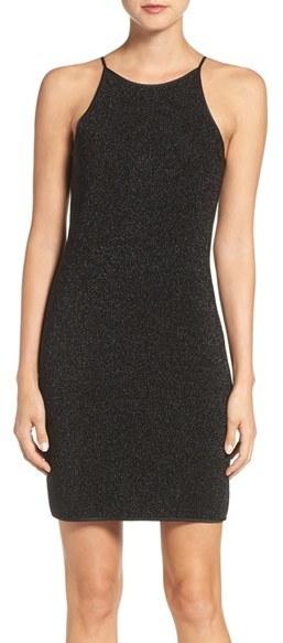GREYLIN Gerylin Metallic Knit Body-Con Dress