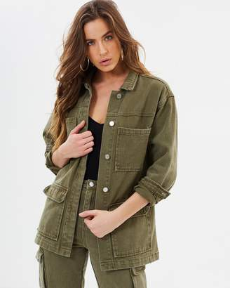 Missguided Denim Utility Jacket