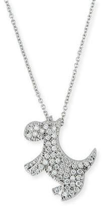 Roberto Coin 18k Diamond Scottie Dog Pendant Necklace