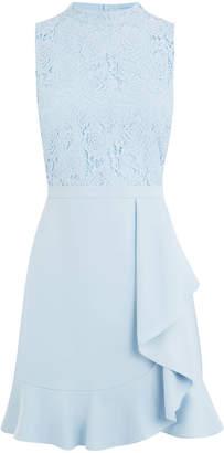 Oasis Lace Flounce Shift Dress