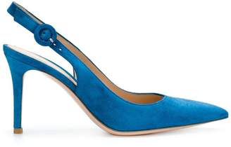 Gianvito Rossi pointed toe slingback pumps