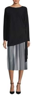 Eileen Fisher Side Tie Seamless Italian Cashmere Tunic