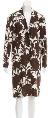 Prada Floral Pattern Woven Jacket