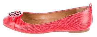 Tory Burch Embossed Leather Flats