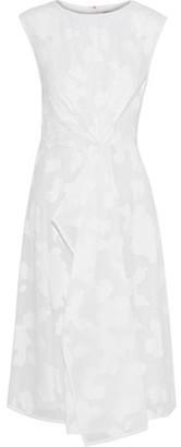 Jason Wu Draped Fil Coupé Cotton-Voile Dress