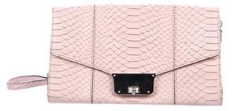 Milly Embossed Leather Crossbody Bag