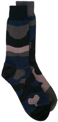 Sacai camouflage knit socks