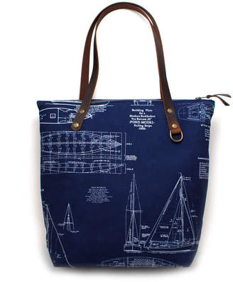 General Knot & Co Shipyard Blueprint Portfolio Tote